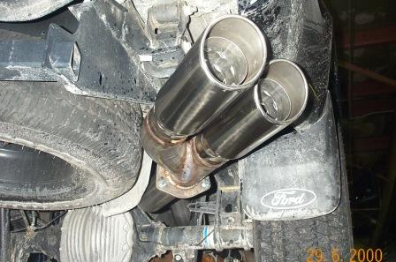 "2008-2009 Ford F250/F350 w/6.4L Turbo Diesel 4"" Stainless ..."