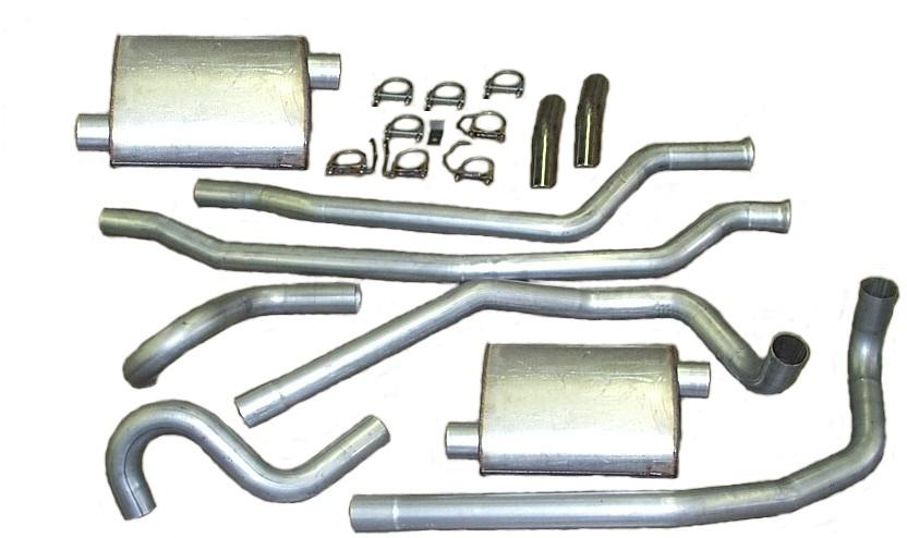 Cat-Back Single Exhaust System for Wrangler 4.0L Heartthrob 1020394 2-1//2 In